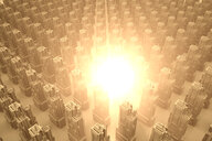 Explosion or energy burst in a conceptual city, 3D Rendering - SPCF00329