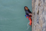 Woman rock climbing, Squamish, Canada - CUF47027