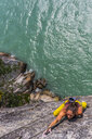 Woman rock climbing, Squamish, Canada - CUF47030