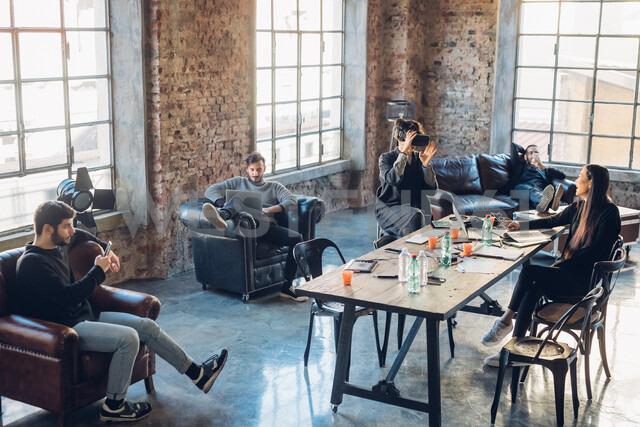 Designers brainstorming in studio - CUF47246