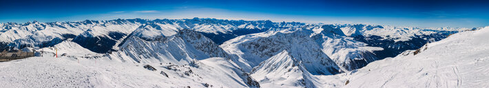 Snow covered Alps, Davos Platz, Graubunden, Switzerland - CUF47705