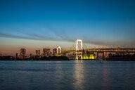 Rainbow Bridge as viewed from Odaiba, Tokyo, Japan - ASTF02158