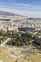 Greece, Athens, view on Theatre of Dionysus and Acropolis Museum - MAMF00343