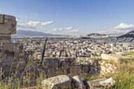 Greece, Athens, Acropolis, cityscape and archaeological site in theforeground - MAMF00346