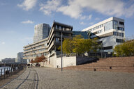 Germany, Hamburg, HafenCity, modern residential and office buildings - WIF03738