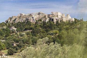 Blick von antiker Agora auf Akropolis, Athen, Griechenland - MAMF00363