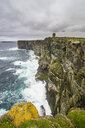 High above the cliffs, the Kitchener Memorial, Orkney Islands, United Kingdom - RUNF01003