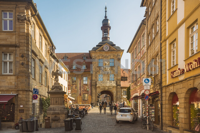 Germany, Bavaria, Bamberg, old town with old town hall - TAM01160