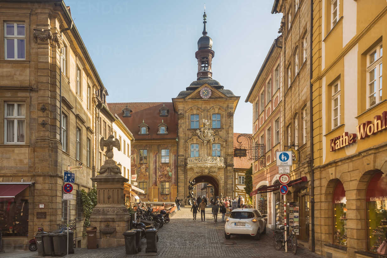 Germany, Bavaria, Bamberg, old town with old town hall - TAM01160 - A. Tamboly/Westend61
