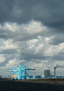 Container terminal situated on the newest part of Rotterdam harbour, Netherlands - CUF47911