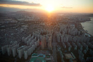 Cityscape at sunset, Seoul, South Korea - CUF48025