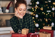 Woman with Christmas presents - CUF48154