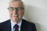 Close up portrait senior businessman with eyeglasses - HEROF05228