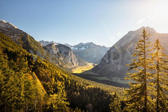 View of Karwendel region, Hinterriss, Tirol, Austria - CUF48300