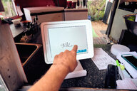 Digital screen for food orders and payment at eatery - ISF20297