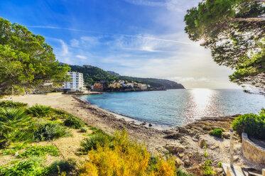 Spain, Mallorca, Sant Elm, empty beach - THAF02410