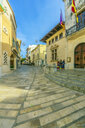 Spain, Mallorca, Alcudia, View of the old town - THAF02421