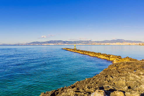 Spain, Mallorca, coast near Portixol - THAF02429