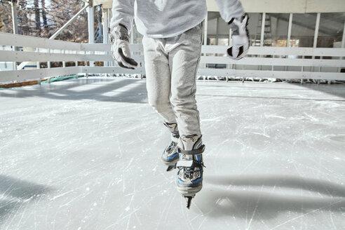 Serbia, Novi Sad, Ice skating, Boy, Skates - ZEDF01791