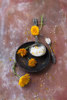 Dried marigold blossoms and globules - MYF02069