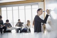 High school student at whiteboard in classroom - HEROF06704