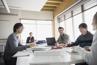 High school students studying in classroom - HEROF06710