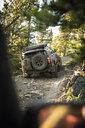 Overland adventure SUVs on remote rugged road - HEROF07049