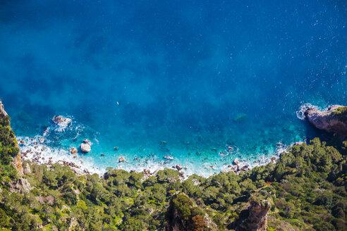 Italy, Campania, Capri, Anacapri, View from Monte Solaro - FLMF00099