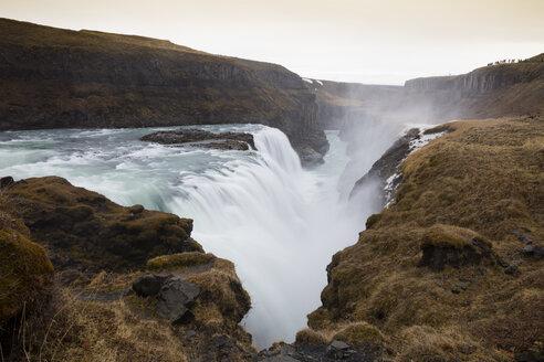 Island, Haukadalur, Golden Circle, Wasserfall Gullfoss - WIF03789