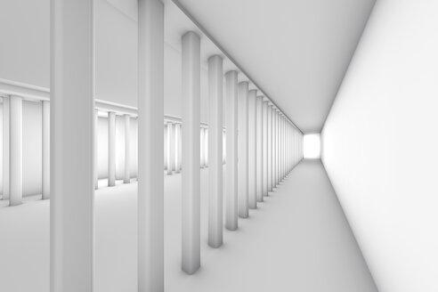Empty hallway, 3D Rendering - SPCF00346