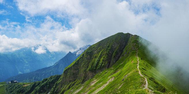 Gipfelgrat vom Soellereck zum Fellhorn, 2038 m, Allgaeuer Alpen, Bayern, Deutschland, Europa - WGF01296
