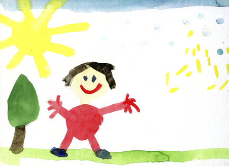 Children's drawing of happy human - CMF00875