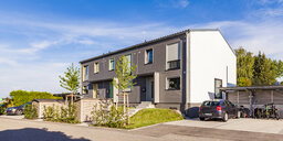 Germany, Fellbach, energy saving house development area - WDF05052