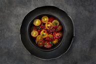 Oriental tomato salad with pomegranate seeds and mint - LVF07697