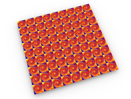 Vibrant LSD blotter repeating pattern, 3d rendering - SPCF00348