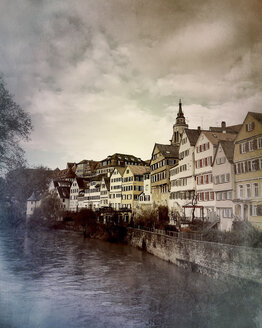Germany, Tuebingen, city view and Neckar - LVF07711