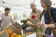 Older couple shopping at farmers market - HEROF08368