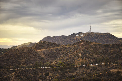 USA, Hollywood sign in the evening - EP00552