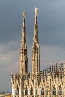 Italy, Milan, pinnacles and spires of Milan Cathedral - PC00393