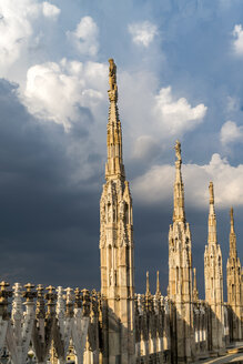 Italy, Milan, pinnacles and spires of Milan Cathedral - PC00396