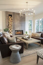 Home showcase interior living room with fireplace - HEROF10189