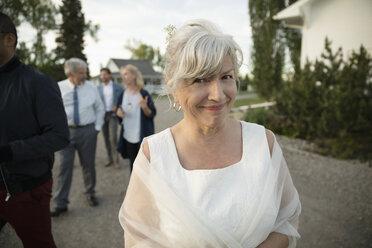 Portrait smiling, confident senior bride - HEROF12687