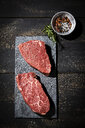 Raw beefsteaks and spices - MAEF12781
