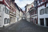 Switzerland, Stein am Rhein, Old town, alley - ELF02008