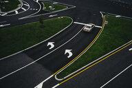 USA, Virginia, Fairfax county, Tysons Corner, elevated view on a road - GCF00244