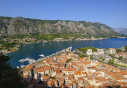 Montenegro, Bay of Kotor, Kotor, old town, view from fortress Sveti Ivan - SIEF08415