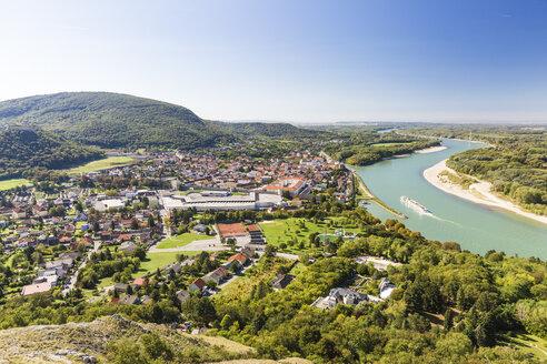 Hainburg vom Braunsberg, Donau, Niederösterreich - AIF00576