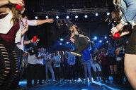 Crowd watching and cheering break dancer - HEROF14931