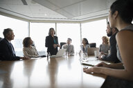 Businesswoman leading conference room meeting - HEROF15259