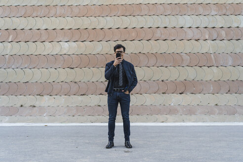Barcelona, Spain. Young fashionable man - AFVF02334